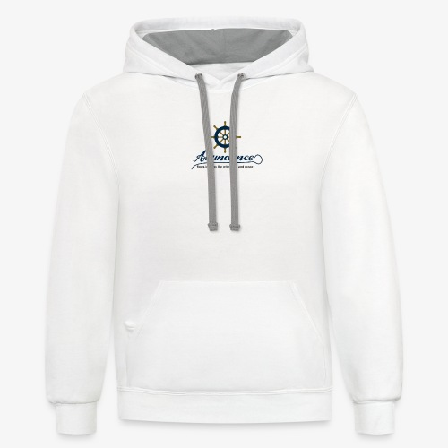 Abundance flows into my life with ease and grace - Contrast Hoodie
