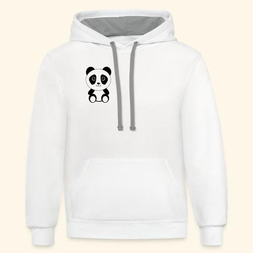 PANDA GENTIL - Contrast Hoodie