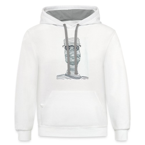 Abstract Illusion - Contrast Hoodie
