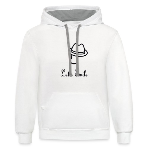 LIMITED EDITION T-SHIRT LET'S SMILE - Contrast Hoodie