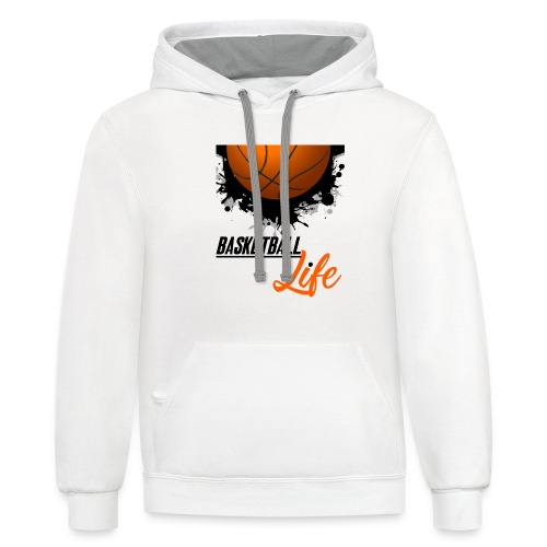 Basketball Sports T shirt lover - Contrast Hoodie
