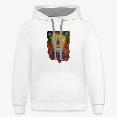 Rainbow Lion - Contrast Hoodie
