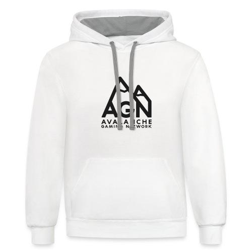 AGN Black Logo Hoodie - Contrast Hoodie
