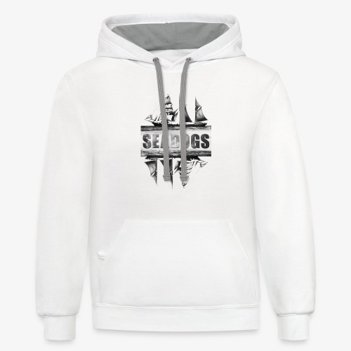 Seadogs Ship at Sea Graphic - Contrast Hoodie