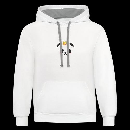 Delux panda shirts - Contrast Hoodie