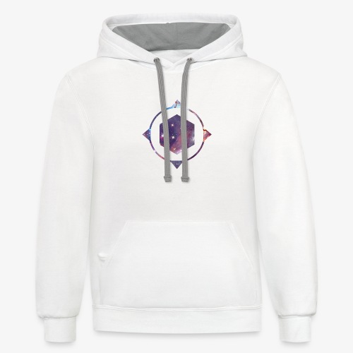 polygon space - Contrast Hoodie