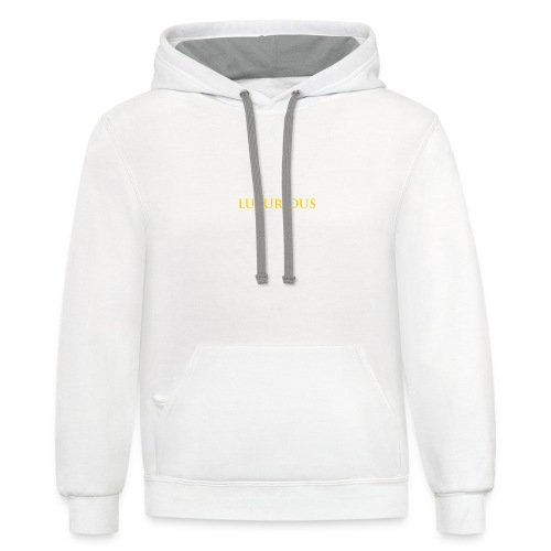 A business logo - Contrast Hoodie