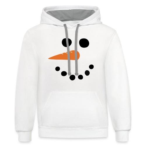 SNOWMAN - Contrast Hoodie
