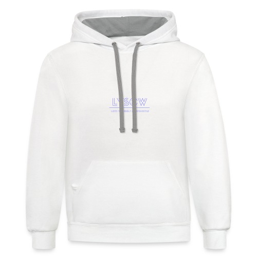 Love Yourself Or Whatever - Contrast Hoodie