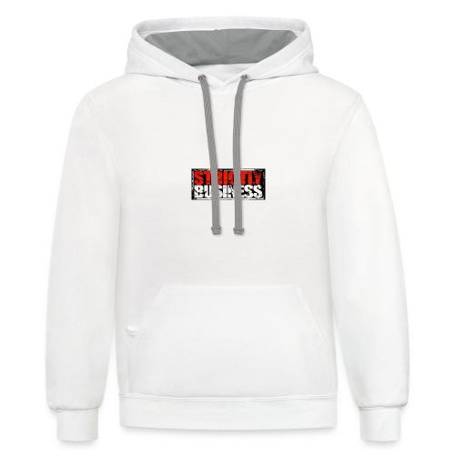 Strictly Business Productions Music Group Logo - Contrast Hoodie