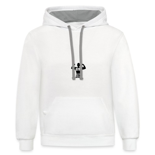 GYM POWER STRONG ACTIVITY - Contrast Hoodie