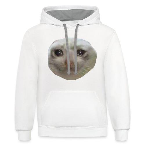 DANKIUS crying cat v2 hoodie - Contrast Hoodie