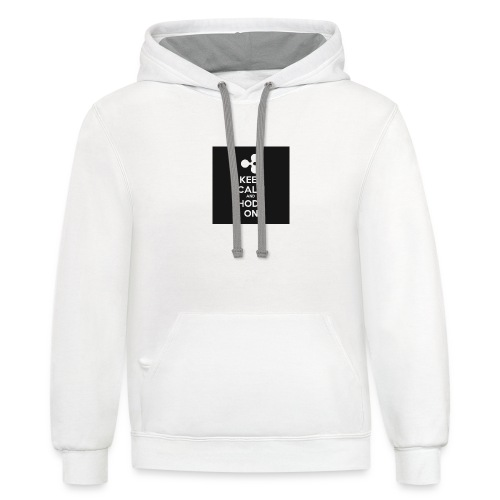 303984810 1020176758 KEEP CALM and HODL ON 1 - Contrast Hoodie