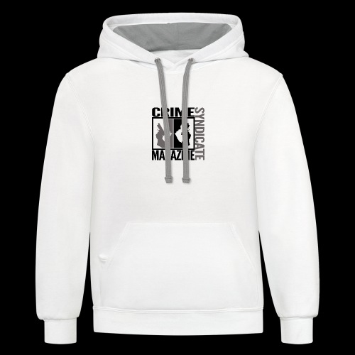 CRIME SYNDIATE MAGAZINE LOGO (No Background) - Contrast Hoodie