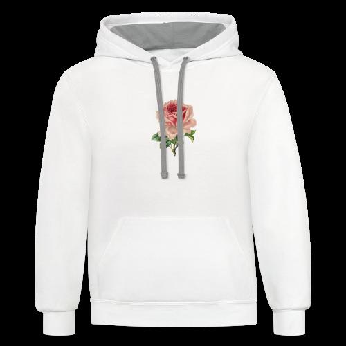 Vintage Flower Design - Contrast Hoodie