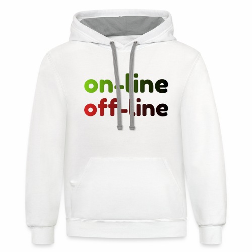 on off line - Contrast Hoodie