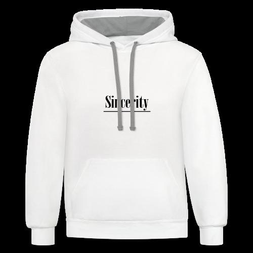 Sincerity - Contrast Hoodie