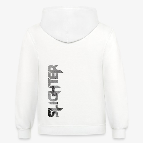 Slighter Line Glitch Logo - Contrast Hoodie