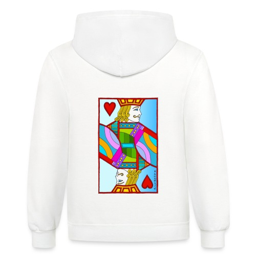 Jack of Hearts by Eliot Raffit - Contrast Hoodie