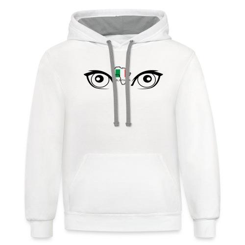 blatalian eyes - Contrast Hoodie