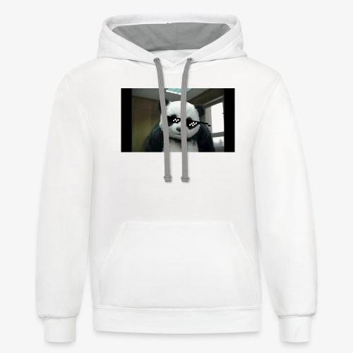 mlg panda - Contrast Hoodie