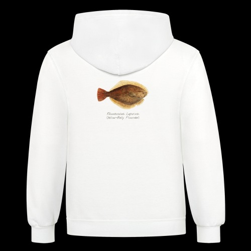 Yellow belly flounder - Contrast Hoodie