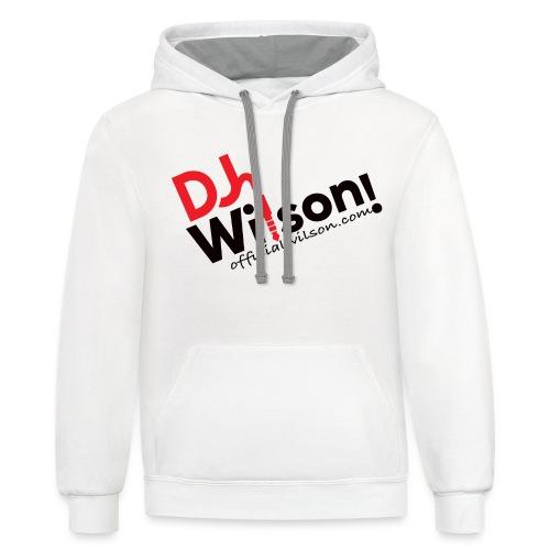 DJ Wilson Logo - Contrast Hoodie