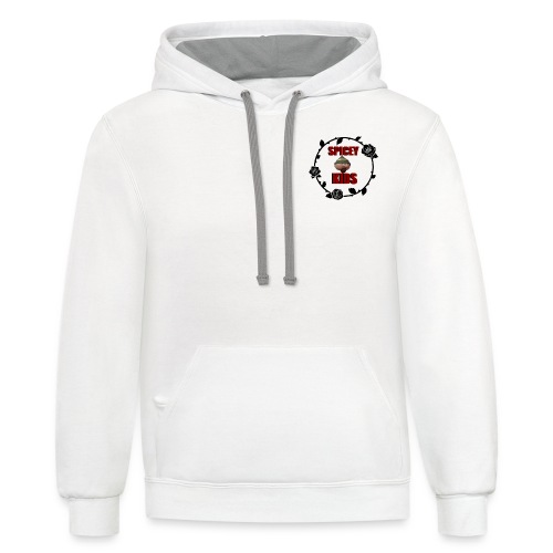spicey kids logo - Contrast Hoodie