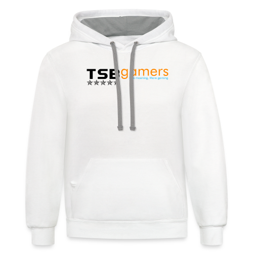 TSB Black Website Logo FullColor - Contrast Hoodie