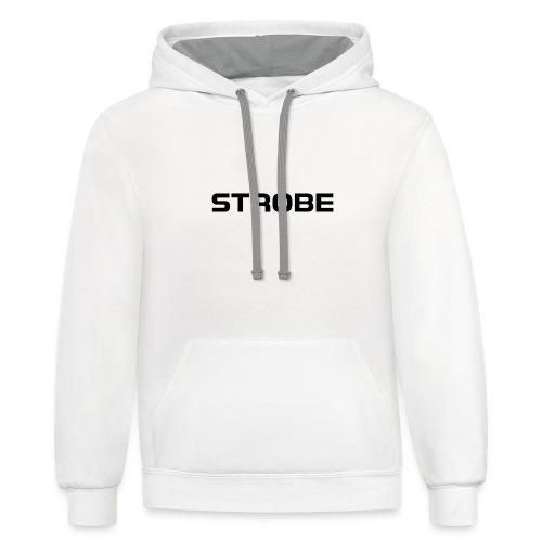 Strobe Black - Contrast Hoodie