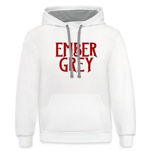 Ember Grey Name Plate - Contrast Hoodie