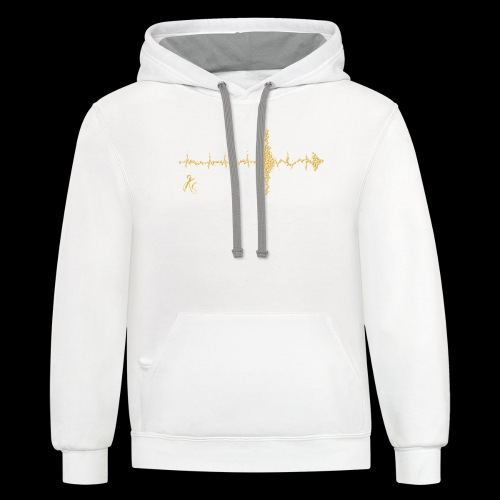 Sound Wave Arrow - Contrast Hoodie
