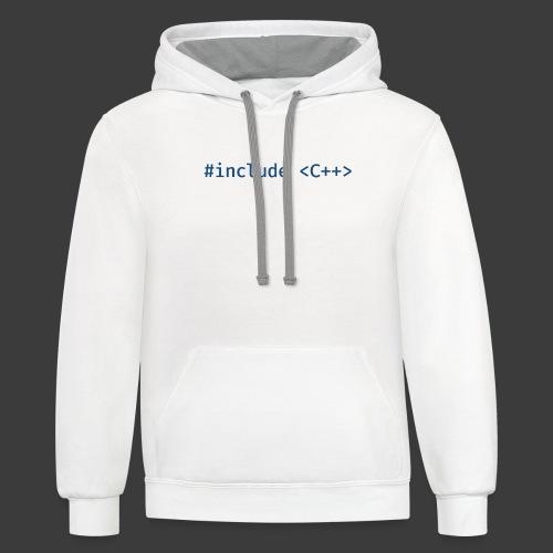 Blue Include Logo - Contrast Hoodie