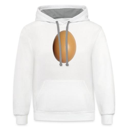 eggs world - Contrast Hoodie
