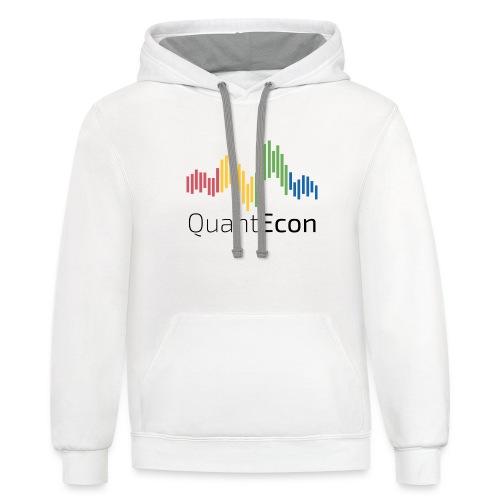 QuantEcon Official Logo - Contrast Hoodie