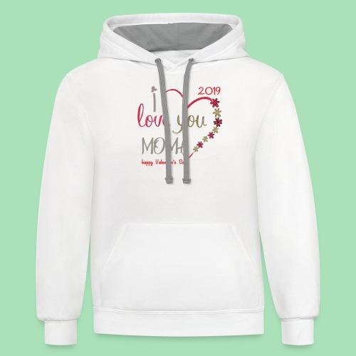 Moma Love - Contrast Hoodie
