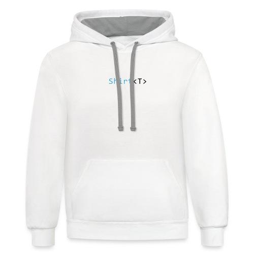 Shirt Programming Code Design - Contrast Hoodie