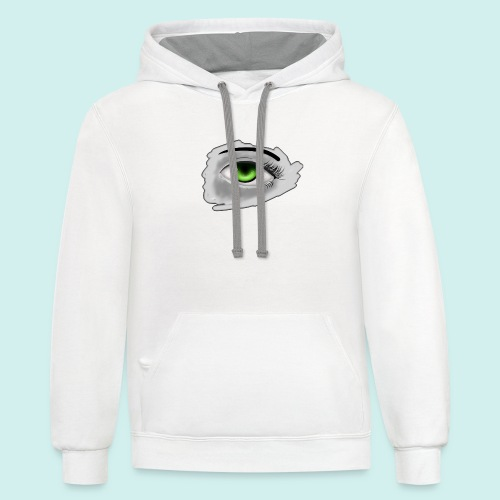 Realist Anime green eye - Contrast Hoodie