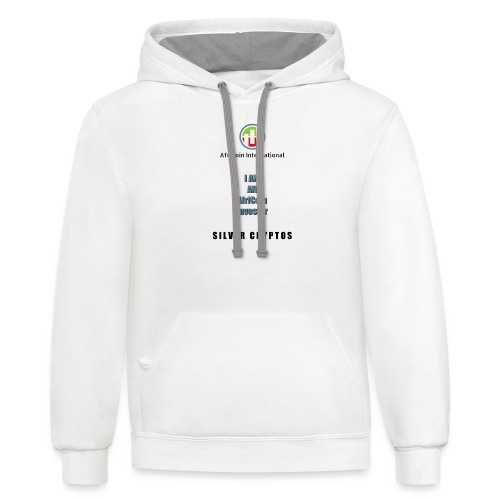 AfriCoin Silver Cryptos Investor - Contrast Hoodie