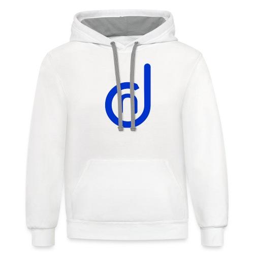 DCN (Direct Cannabis Network Logo -Blue) - Contrast Hoodie