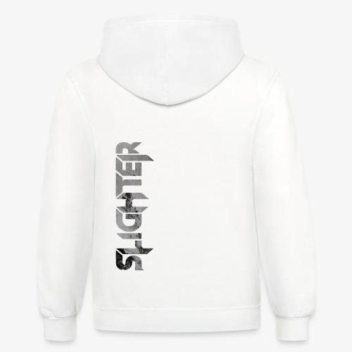 Slighter Line Glitch Logo - Contrast Hoodie