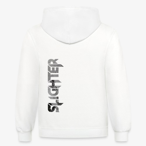 Slighter Line Glitch Logo - Unisex Contrast Hoodie