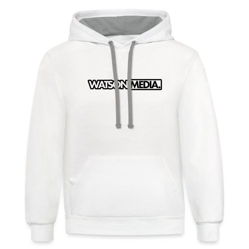 black and white png - Contrast Hoodie