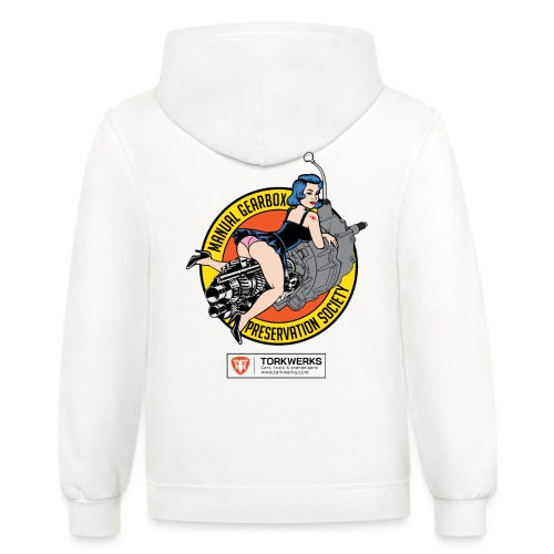 Manual Gearbox Preservation Society - Unisex Contrast Hoodie