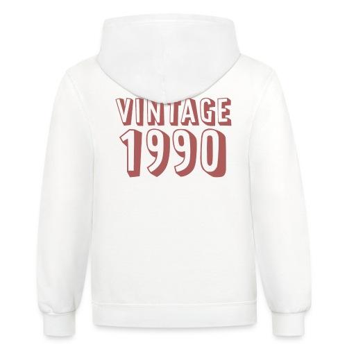 Vintage 1990 (dusty rose) - Contrast Hoodie