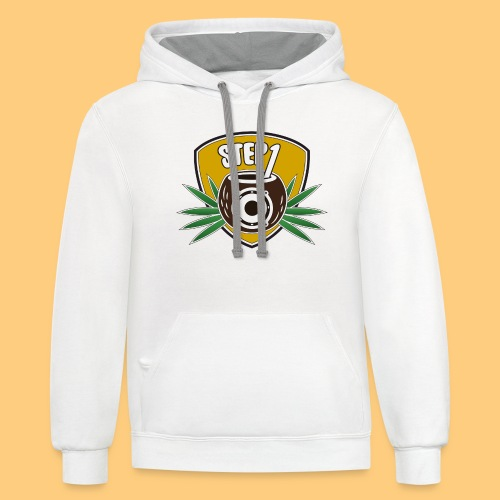 Step One Logo (Yellow) - Unisex Contrast Hoodie