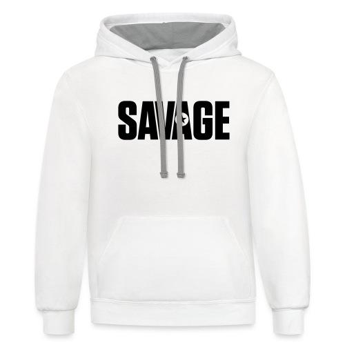 SAVAGE - Unisex Contrast Hoodie