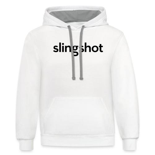 SlingShot Logo - Unisex Contrast Hoodie