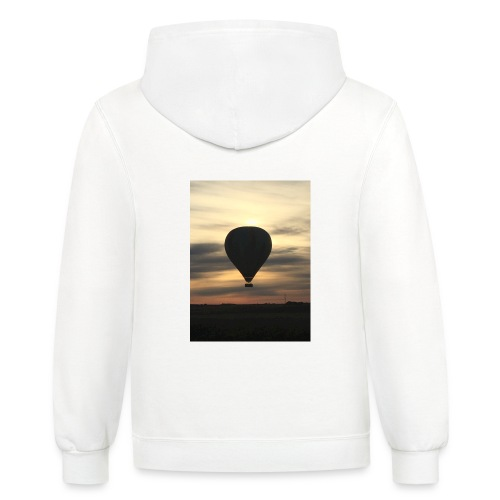 hot air balloon - Contrast Hoodie