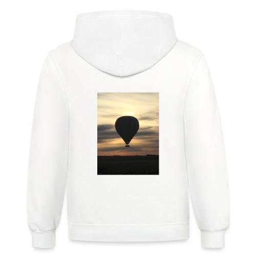 hot air balloon - Unisex Contrast Hoodie